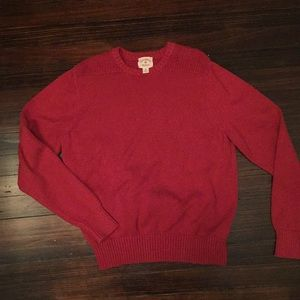 Brooks Brothers Red Fleece Cotton Sweater